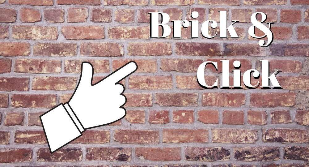 brick wall and finger cursor